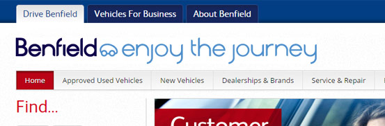 Benfield Motor Group Website