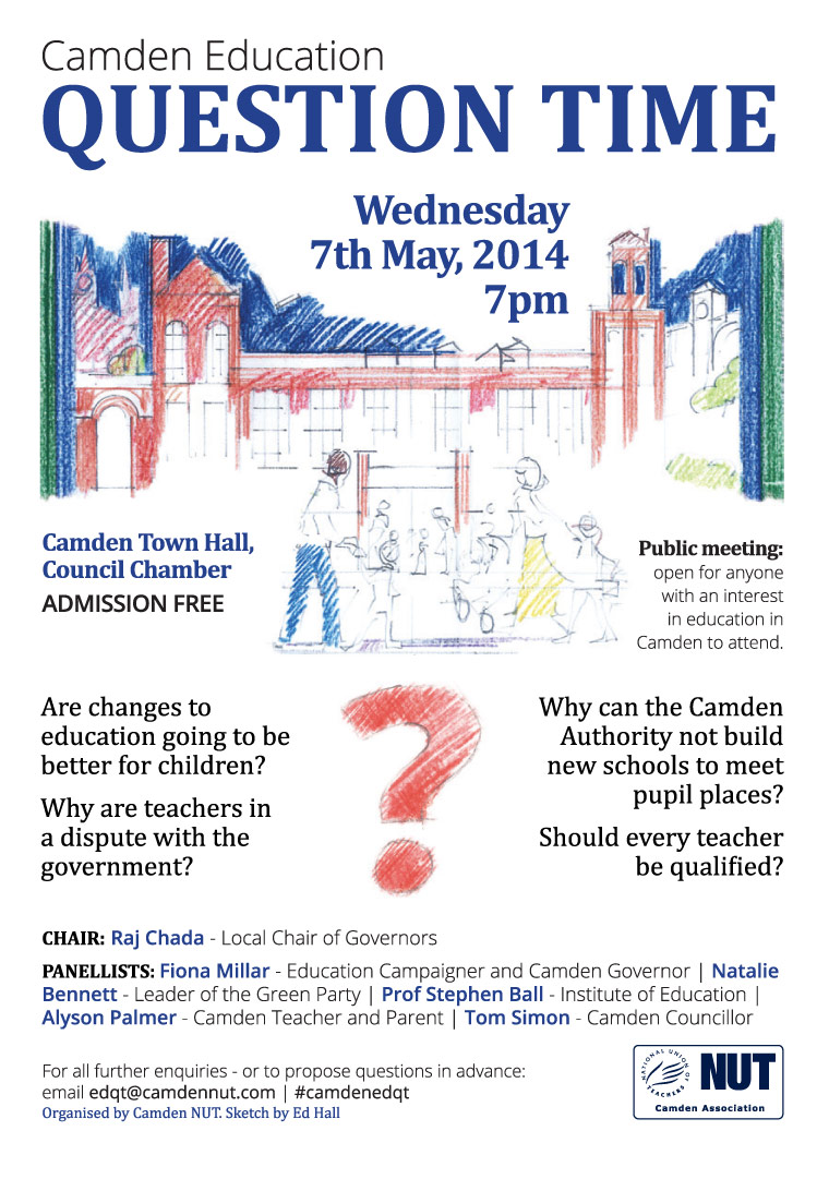 NUT question time flyer